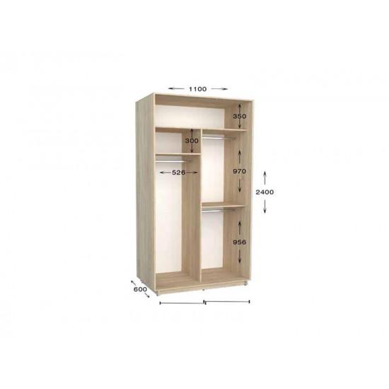 шкаф  купе гарант практик-10 1100*450(600)*2200(2400)