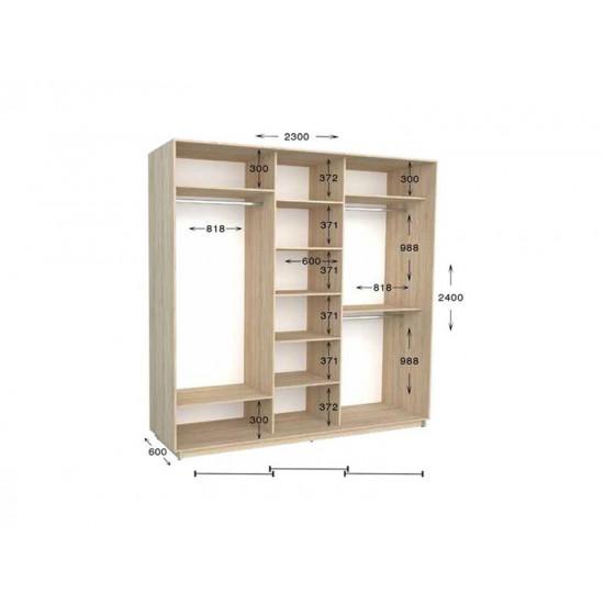 шкаф  купе гарант практик-105 2300*450(600)*2200(2400)