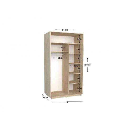 шкаф  купе гарант практик-11 1100*450(600)*2200(2400)