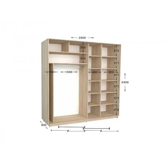 шкаф  купе гарант практик-110/4 2300*450(600)*2200(2400)