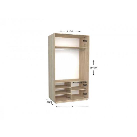 шкаф  купе гарант практик-12 1100*450(600)*2200(2400)