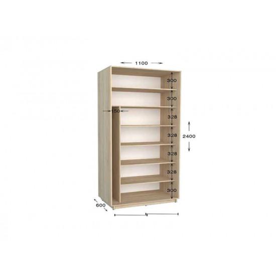 шкаф  купе гарант практик-15 1100*450(600)*2200(2400)