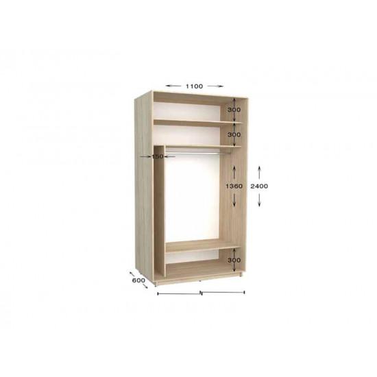 шкаф  купе гарант практик-16 1100*450(600)*2200(2400)
