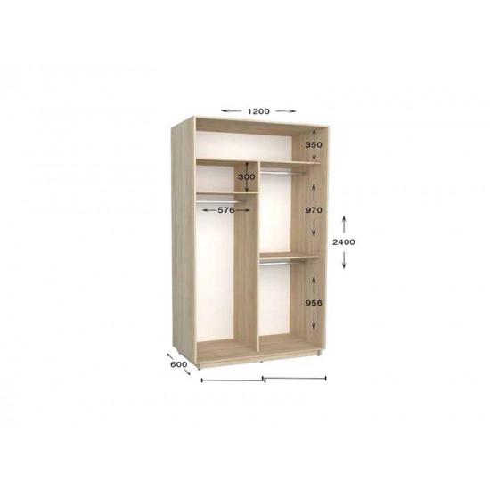 шкаф  купе гарант практик-18 1200*450(600)*2200(2400)
