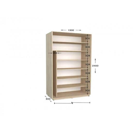 шкаф  купе гарант практик-31 1300*450(600)*2200(2400)