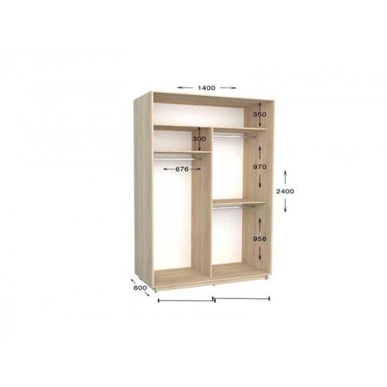 шкаф  купе гарант практик-34 1400*450(600)*2200(2400)