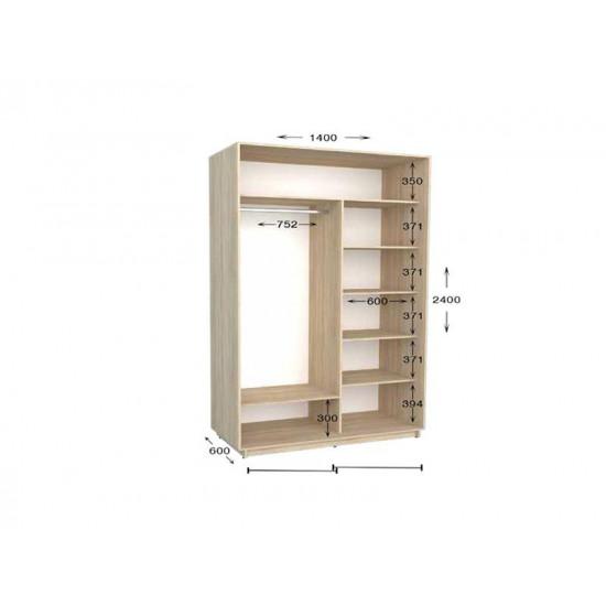 шкаф  купе гарант практик-35 1400*450(600)*2200(2400)