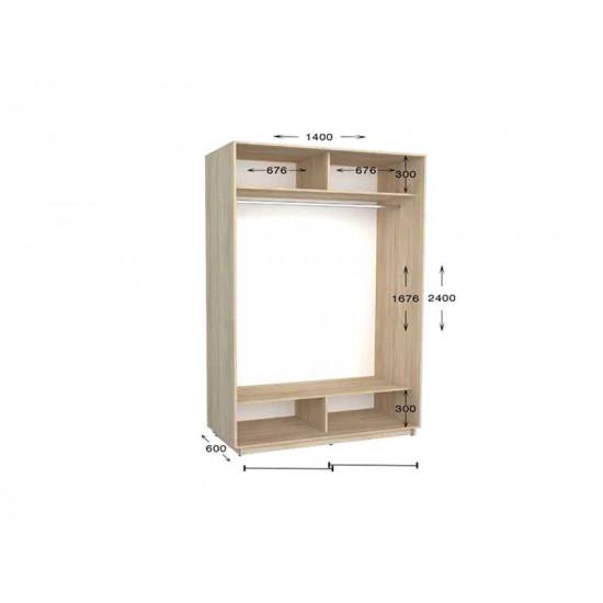 шкаф  купе гарант практик-37 1400*450(600)*2200(2400)