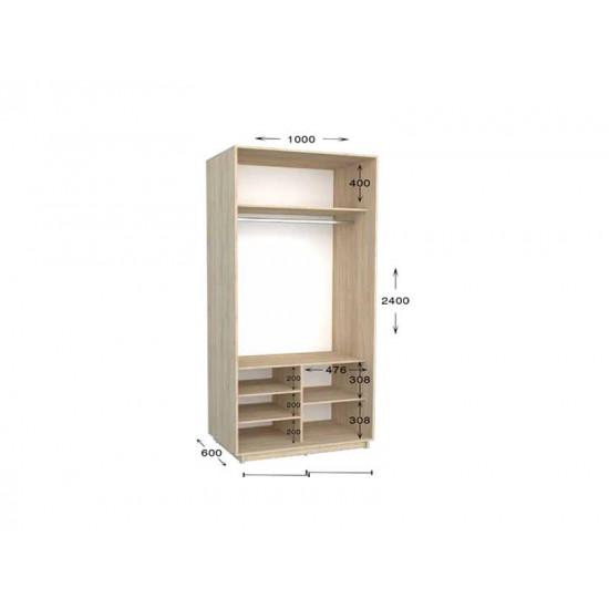 шкаф  купе гарант практик-4 1000*450(600)*2200(2400)