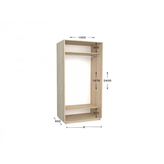 шкаф  купе гарант практик-5 1000*450(600)*2200(2400)