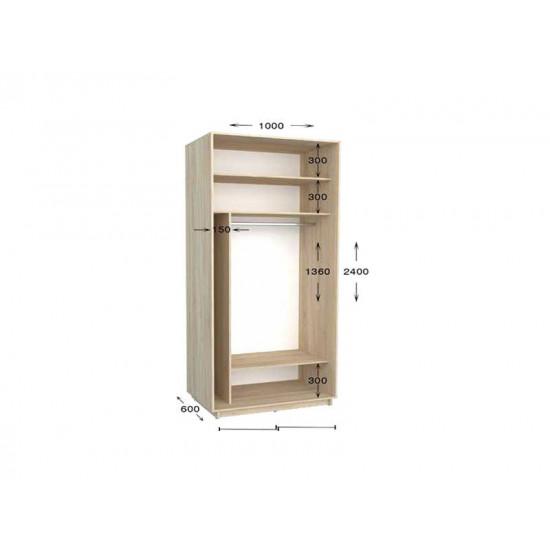 шкаф  купе гарант практик-8 1000*450(600)*2200(2400)
