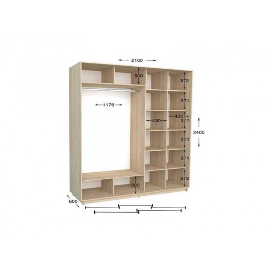 шкаф  купе гарант практик-94/3 2100*450(600)*2200(2400)