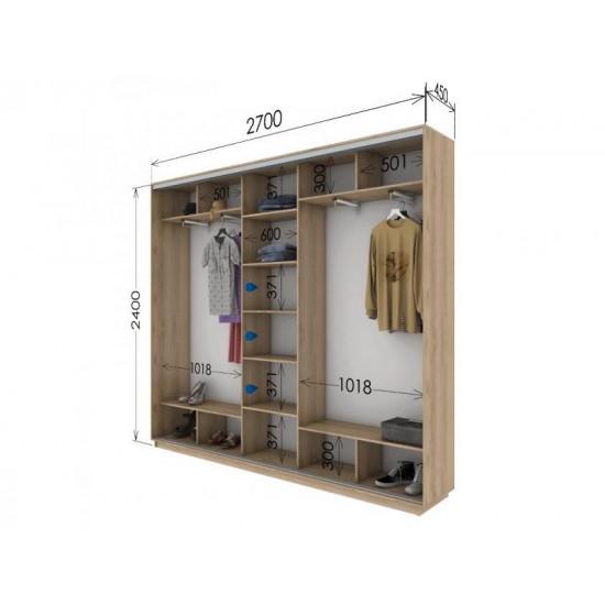 шкаф  купе гарант стандарт 2700*450*2400