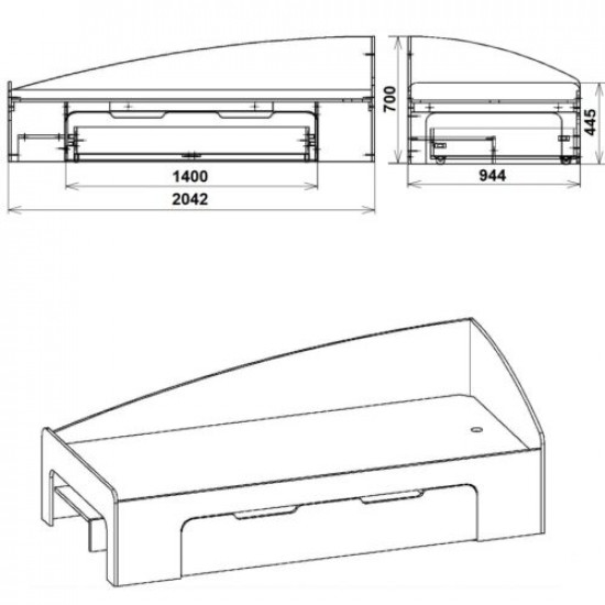 Кровать-90+1