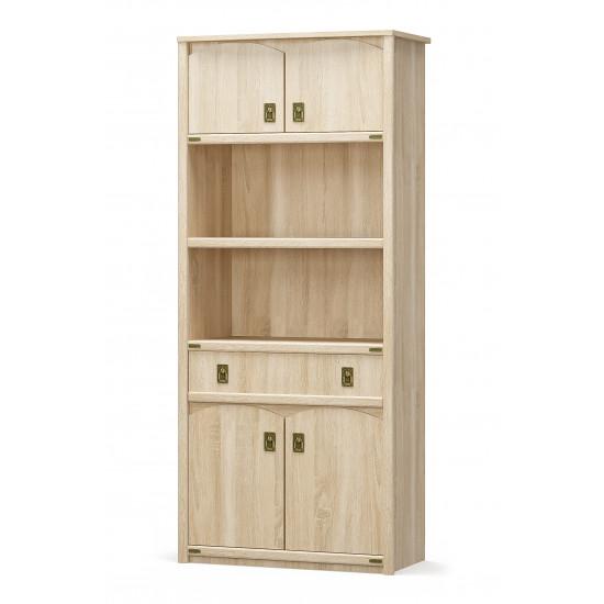 шкаф книжный 4Д1Ш система Валенсия
